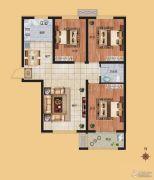 香榭丽都3室2厅1卫111平方米户型图