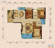 半山�庭3室2厅2卫142平方米户型图