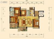 蓝光雍和园4室2厅3卫142平方米户型图