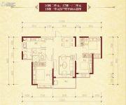恒大名都3室2厅1卫107平方米户型图