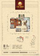 天湖御林湾2室2厅2卫89平方米户型图