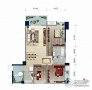 浏卉新城3室2厅2卫119平方米户型图