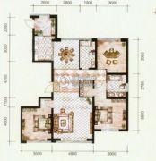 锦尚国际3室2厅2卫160平方米户型图
