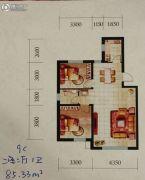 辽阳第一城2室2厅1卫85--86平方米户型图