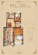 恒开滨河城2室2厅1卫98平方米户型图
