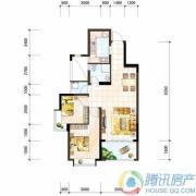 雅居乐十里花巷2室2厅1卫77平方米户型图
