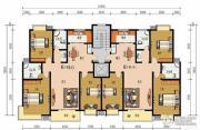 申鑫名城3室2厅2卫134平方米户型图