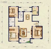 保艾尔云麓3室2厅2卫141平方米户型图