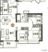 海陵岛恒大御景湾3室2厅1卫96平方米户型图