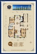 荣盛华府4室2厅2卫152平方米户型图