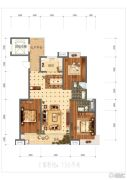 金泰华府3室2厅2卫136平方米户型图