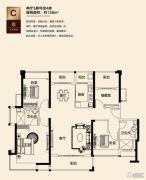 三水万达广场3室2厅0卫138平方米户型图