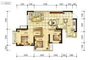 长虹和悦府3室2厅1卫79平方米户型图
