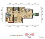 中拓世纪天骄3室2厅2卫115平方米户型图