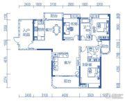 半山�庭3室2厅2卫144平方米户型图