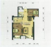 世茂新五里河2室2厅1卫97平方米户型图