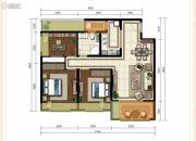 龙斗壹号・海岸城3室2厅1卫103平方米户型图