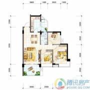 雅居乐十里花巷2室2厅1卫87平方米户型图