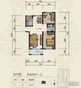 三田雍泓・青海城2室2厅1卫93平方米户型图