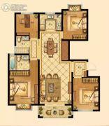 中梁香缇公馆4室2厅2卫123平方米户型图