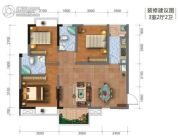 钻石广场3室2厅2卫80平方米户型图