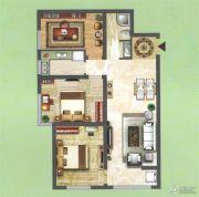 中央名都3室2厅1卫95平方米户型图