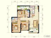 蓝光天娇城3室2厅2卫80平方米户型图