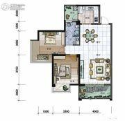 中旭印象江南2室2厅2卫121平方米户型图