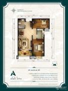 公园6号2室2厅1卫95平方米户型图