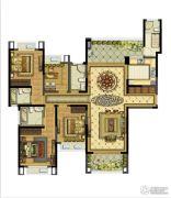 雅居乐滨江国际4室2厅4卫178平方米户型图