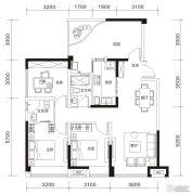 戛纳湾金棕榈4室2厅2卫89--119平方米户型图