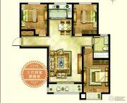 新合国际锦合园3室2厅1卫119平方米户型图