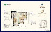 淮矿东方蓝海2室2厅1卫90--92平方米户型图
