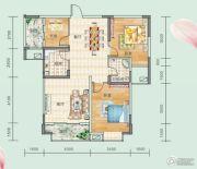 连山鼎府3室2厅1卫105平方米户型图