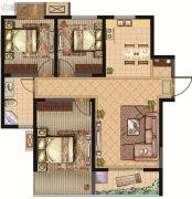 建屋・哈佛公园3室2厅1卫97平方米户型图