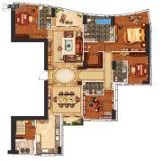 华远华中心5室2厅4卫230平方米户型图