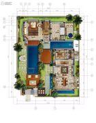香水湾1号2室2厅1卫180平方米户型图