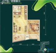 夏都海岸1室2厅1卫70--77平方米户型图