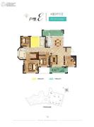 惠天然梅岭国际4室2厅2卫183平方米户型图