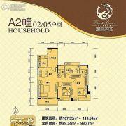 凯旋美域3室2厅2卫89--99平方米户型图