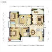 天府金融港4室2厅2卫130平方米户型图