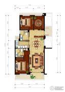 绿城・玉兰花园3室2厅2卫125平方米户型图