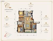 万科银海泊岸4室2厅2卫167平方米户型图