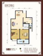 世纪华庭2室2厅1卫89平方米户型图