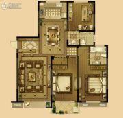 恒威中央领地3室2厅2卫148平方米户型图