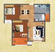 友谊嘉御龙庭2室2厅1卫90平方米户型图