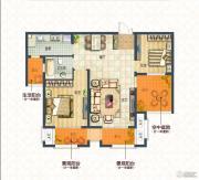 蓝庭印象2室2厅1卫100--110平方米户型图
