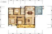 德杰国际城3室2厅1卫128平方米户型图