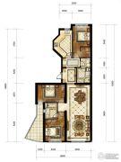 中海枫丹公馆3室2厅2卫150平方米户型图