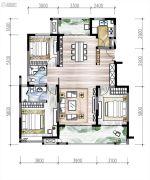 高新骊山下的院子3室2厅2卫0平方米户型图